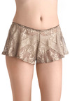 Glimmer of Glamour Sleep Shorts by Only Hearts - Gold, Sheer, Black, Knitted
