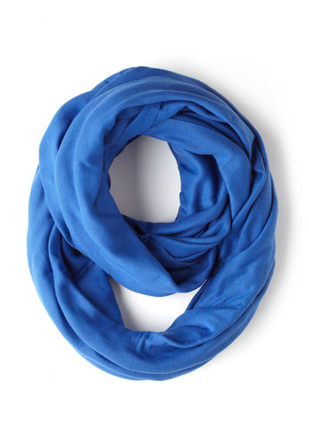 Start With The Basics Circle Scarf in Cornflower - Blue, Solid, Variation