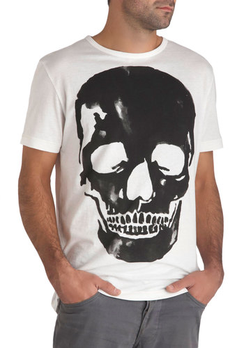Cranial Cool Men's Tee - Cotton, Jersey, International Designer, Urban, Novelty Print, Halloween