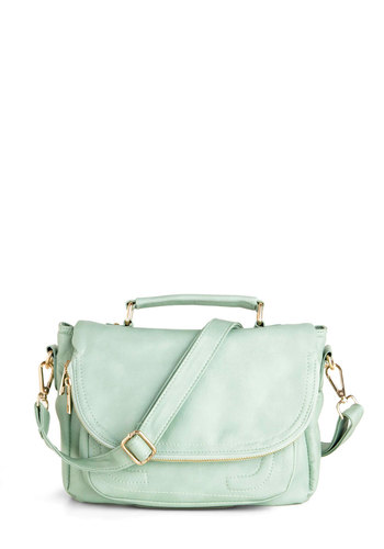 Pastel Tale Sign Bag - Solid, Faux Leather, Mint, Pastel