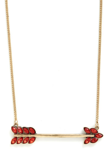High Aims Necklace - Gold, Red