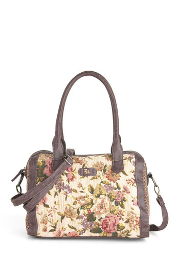 Liberty and Justice Floral Bag - Floral, Multi, Embroidery, Faux Leather