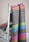 Cozy Upscale Throw - Multi, Boho, Stripes, Graduation