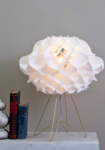 Turn of the Mid-Century Lamp - White, Urban, Mod, Solid, Flower