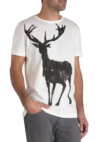 Hoofin' It Tee - Cotton, Long, Jersey, International Designer, Print with Animals, Holiday