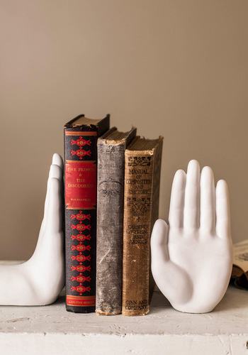 Gimme Five Bookends - White, Urban, Mod, Solid