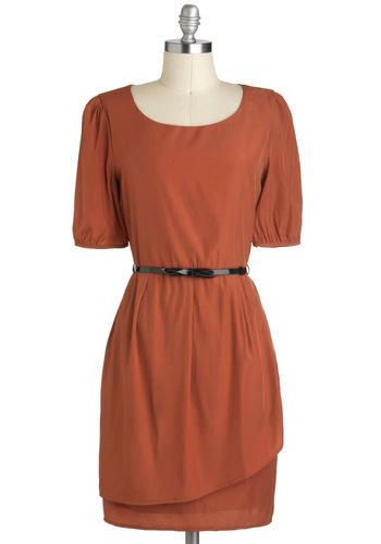 Sincere-rust Gratitude Dress