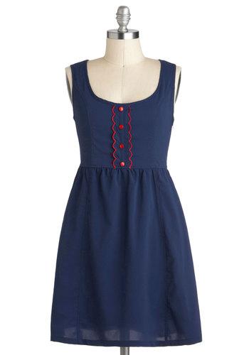 Gal in Scallops Dress
