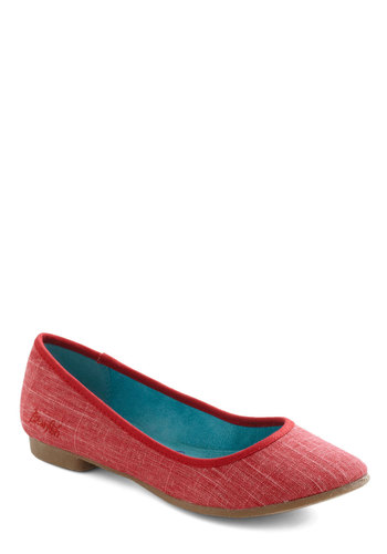 Mast Be Love Flat in Coral - Red, Solid, Flat, Variation