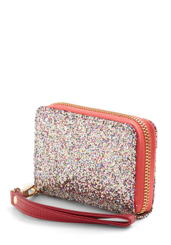 Glitz on Me Wallet - Multi, Glitter, Girls Night Out