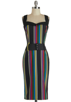 Cool Vibes Dress in Stripes
