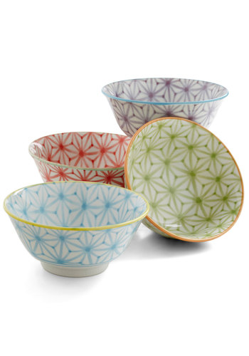 Slaw of the Land Bowl Set - Multi, Boho, Vintage Inspired, Handmade & DIY