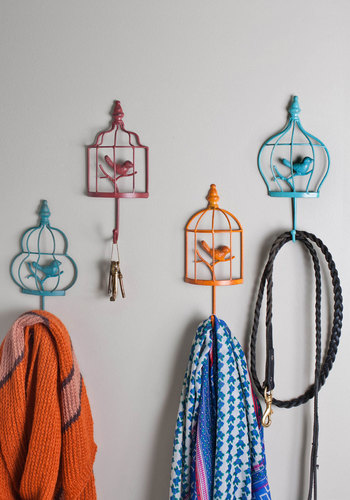 Ready for Takeoff Wall Hooks - Multi, Dorm Decor, French / Victorian, Better, Press Placement, Graduation, Gals, Boho, Critters, Bird, Woodland Creature, Rustic
