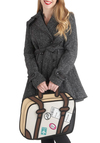 Drawn to Discover Bag - Tan, Multi, Travel, Quirky, Novelty Print, Casual