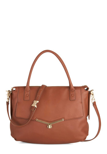 Botkier In It to Cinnamon It Bag - Leather, Brown, Solid, Work, Luxe