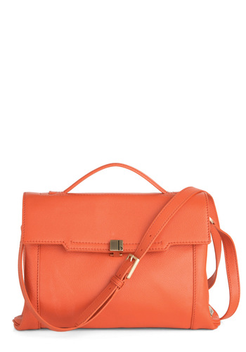 Botkier Great Barrier Bag - Leather, Coral, Solid, Work