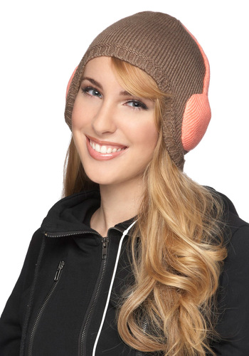 Beat the Chill Hat - Brown, Pink, Solid, Winter