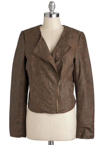 Rock Formation Jacket by Jack by BB Dakota - Brown, Solid, Pockets, Long Sleeve, 2, Urban, Short