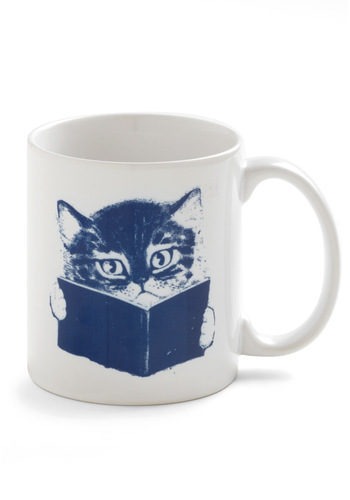 Fur-st Edition Mug - White, Blue, Dorm Decor, Print with Animals, Top Rated