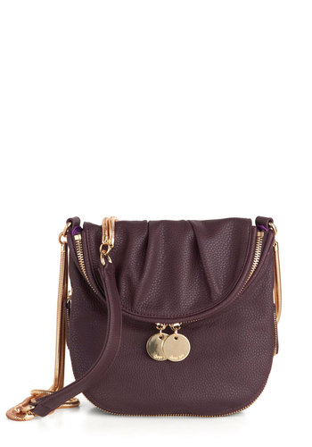 Cord-ially Yours Bag - Purple, Gold, Solid, Casual, Quirky