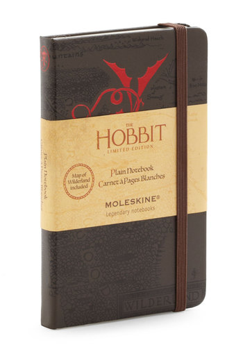 Back in the Hobbit Notebook by Chronicle Books - Black, Fairytale
