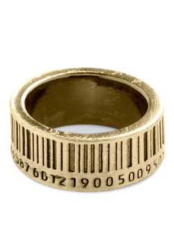 Up to Barcode Ring in Gold