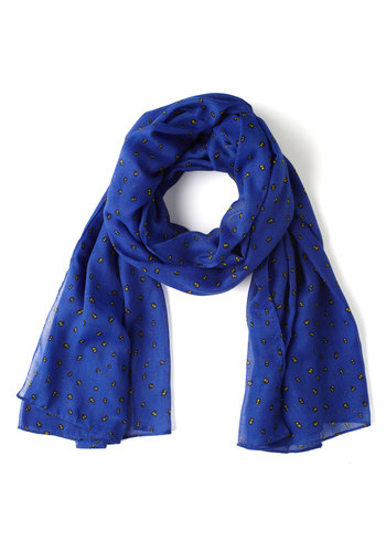 Nighttime Vision Scarf - Blue, Yellow, Print