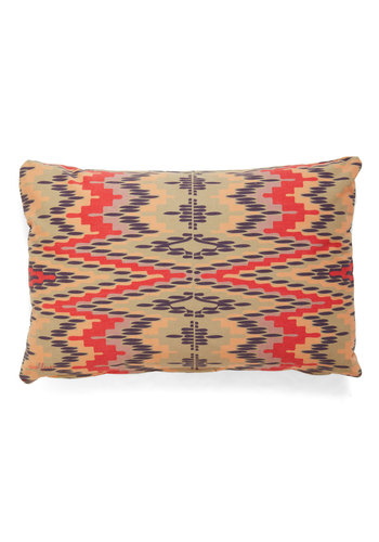 One Cool Cabin Pillow - Cotton, Multi, Rustic