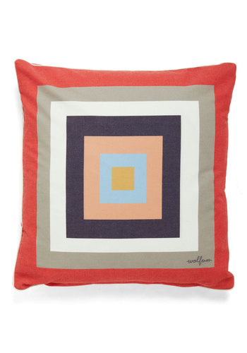 Geometry Classic Pillow - Cotton, Multi, Vintage Inspired, Colorblocking