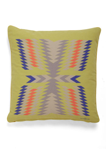 That 70s Throwback Pillow - Cotton, Multi, Yellow, Vintage Inspired, 70s, Rustic