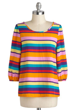Bright Stripes Big City Top