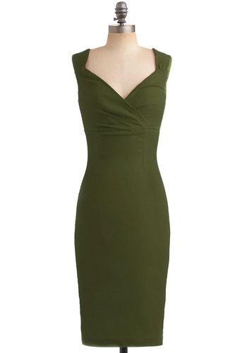 Lady Love Song Dress in Fern