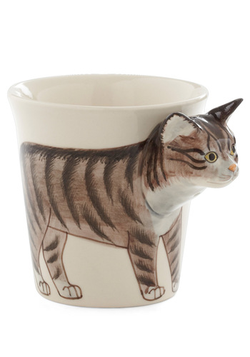 Tabby Hour Mug - Multi, Print with Animals, Work, Vintage Inspired, Quirky, Cats, Good, Top Rated