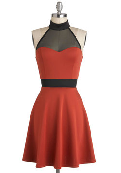 The Minneapolis Soundtrack Dress in Tangerine