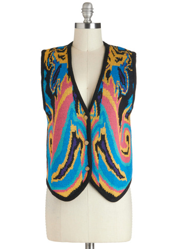 Vintage In Lively Color Vest