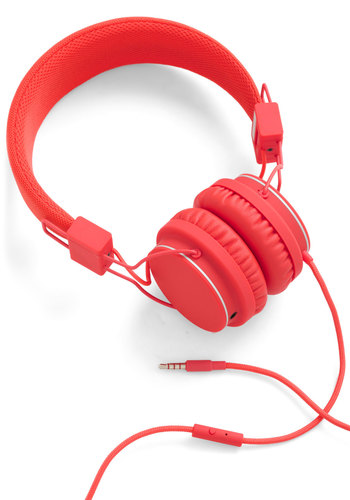 Thoroughly Modern Musician Headphones in Tomato by Urbanears - Red, Urban, Minimal, Music, Graduation, Travel, Festival, 80s, Summer, Top Rated, Boho, Press Placement, Gals, Valentine's
