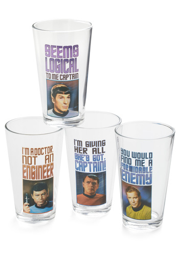 Trek of the Trade Glass Set - Multi, Quirky, Graduation