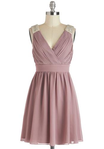 A Mauve-elous Occasion Dress