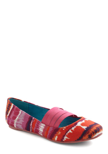 Sunset Palette Flat - Pink, Multi, Tie Dye, Flat, Casual, 90s, Travel