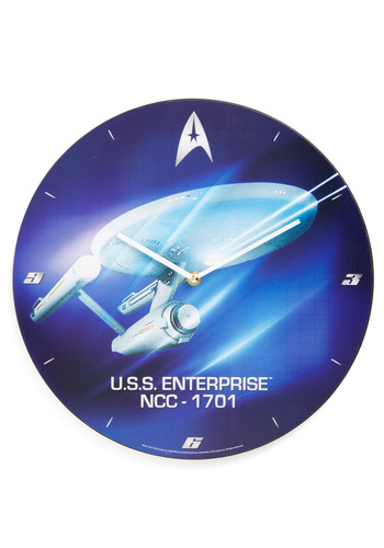 Enterprise and Shine Clock - Blue, Quirky