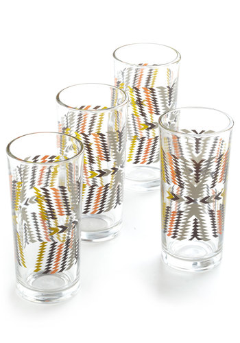 That 70s Throwback Glass Set - Multi, Urban, Mod, 70s