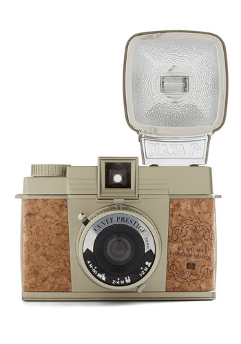 Diana F+ Camera in Cuvée Prestige by Lomography - Tan, Vintage Inspired, Urban, Nautical, Graduation, Travel