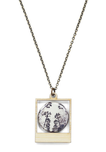 Picture Bliss Necklace in Treetops - Multi, Print, Chain
