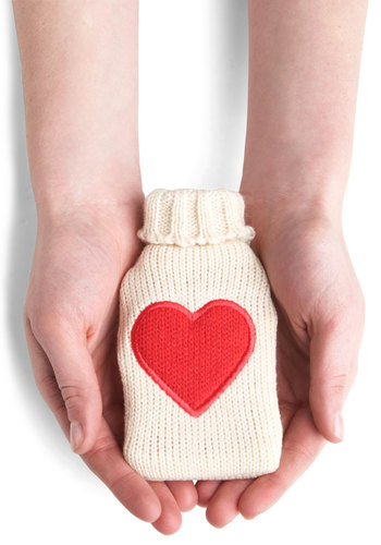 Warms My Heart Hand Warmer by Louche - International Designer, Red, White, Quirky