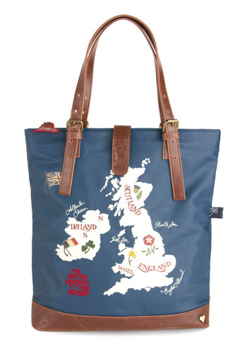 Archipelago the Distance Tote by Disaster Designs - Faux Leather, Blue, Multi, Novelty Print, Travel, International Designer, Beach/Resort