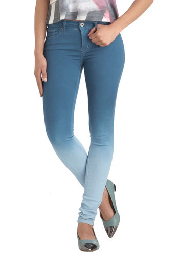 Dawned on You Jeans - Denim, Blue, Casual, Skinny, 90s, Ombre