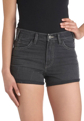 Wherever You Roam Shorts by Levi's - Black, Solid, Pockets, Casual, Denim, Cotton, Vintage Inspired, Beach/Resort, Summer