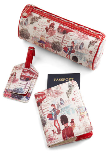 World Wide Web Celeb Travel Case Set - Red, Multi, Novelty Print, Travel, Graduation