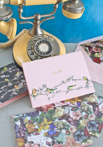 True to Wordplay Notecard Set - Multi, Floral