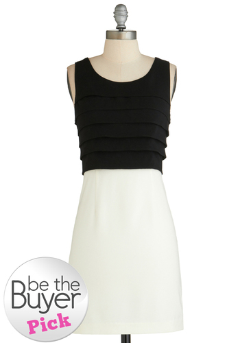 Film Photography Dress - Black, White, Exposed zipper, Tiered, Party, Twofer, Sleeveless, Exclusives, Vintage Inspired, 60s